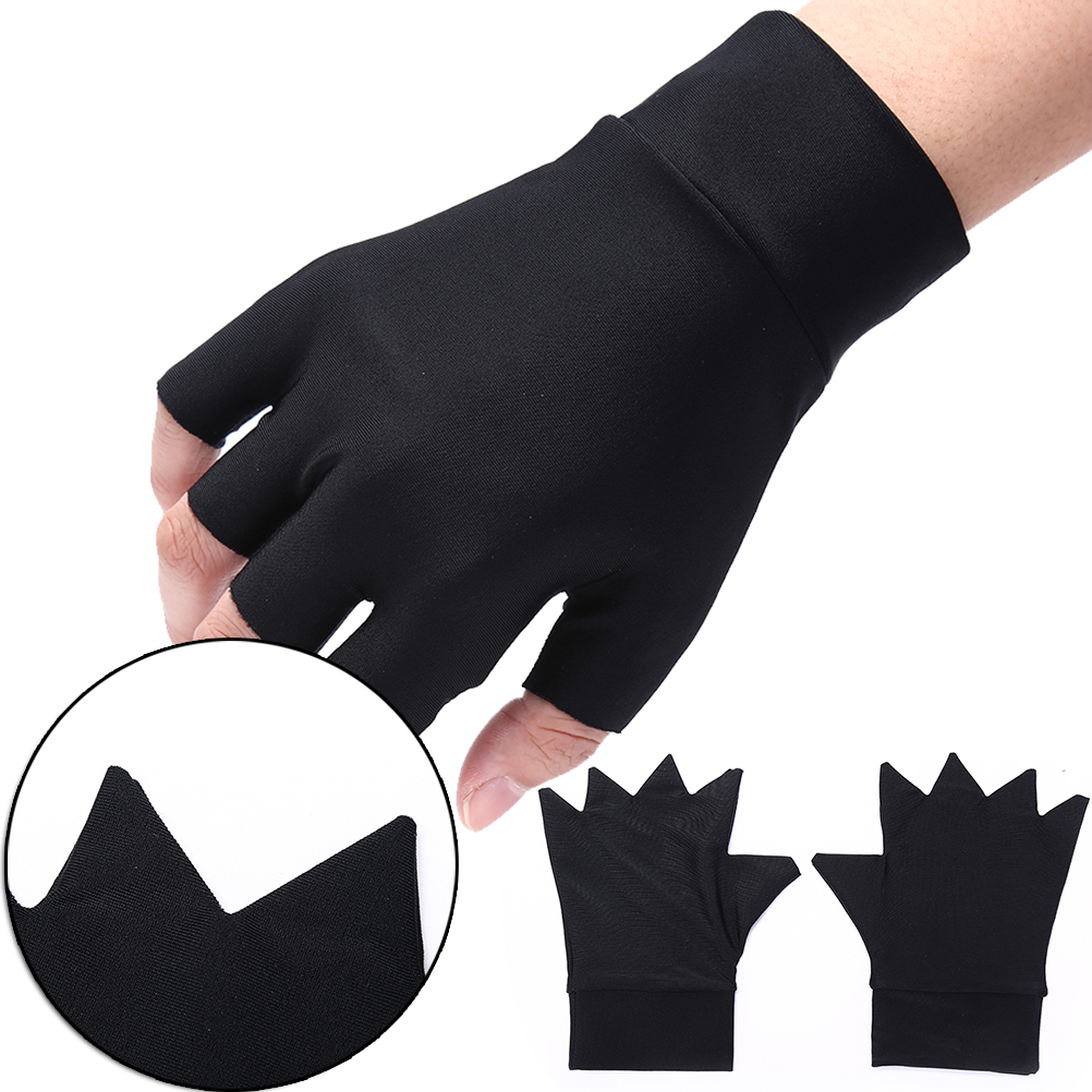 1pc Magnetic Therapy Fingerless Gloves Arthritis Pain Relief Heal Joints Braces Supports Black Color Hot Sale