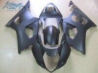 Atualizar seus kits de carenagem para suzuki 2003 2004 gsxr1000 k3 k4 aftermarket sport carenagens kit 03 04 gsxr 1000 preto fosco bd12