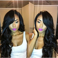 Unprocessed Peruvian Virgin Hair Full Lace Wig 130% Density  Lace Front Wig Body Wave Glueless Full Lace Human Hair Wigs