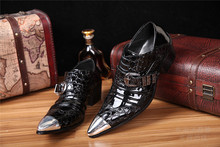 Mens patent leather black shoes crocodile high heels handmade italian mens mariage dress wedding 2020 oxford men