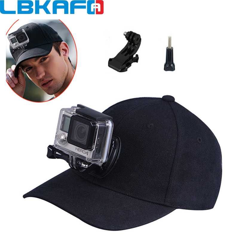 LBKAFA Accessories Adjustable Baseball Sun Hat Cap With J-hook Screw For Gopro Hero 6 5 4 3+ SJCAM SJ4000 SJ5000 SJ6 SJ7 XIAOYI