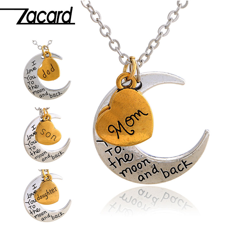 Zacard Loving Family Necklace 2017 Christmas Gifts For Mom