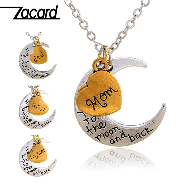 ZACARD Loving Family Necklace 2017 Christmas Gifts For Mom Dad Son ...