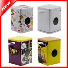 Decorative Laundry Machine Shaped Detergent Washing Powder Storage Tin Box Sundries Organizer Pet Dog And Cat