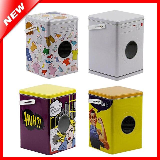 Decorative Laundry Machine Shaped Detergent Washing Powder Storage