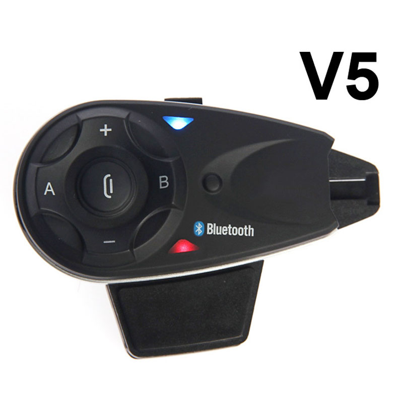 1200M BT Bluetooth Motorcycle Helmet Intercom for 5 Riders Interphone Headset Talk at same time V5 Free Shipping!! carchet 2x bt bluetooth motorcycle helmet inter phone intercom headset 1200m 6 rider motorbike headset handsfree call