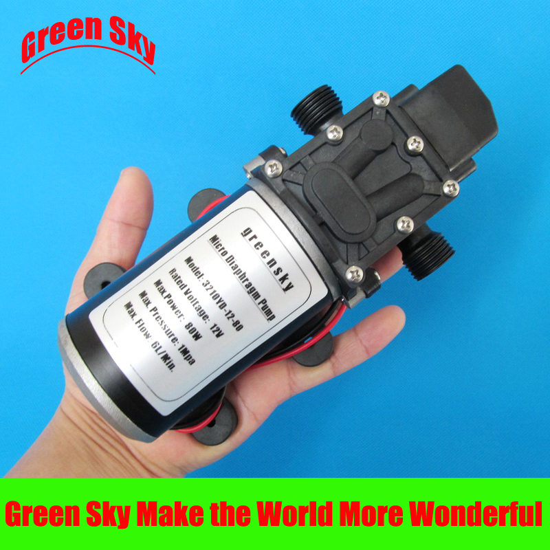 Hot sale 1Mpa 6L/Min 12V DC 80W pressure micro diaphragm water pump