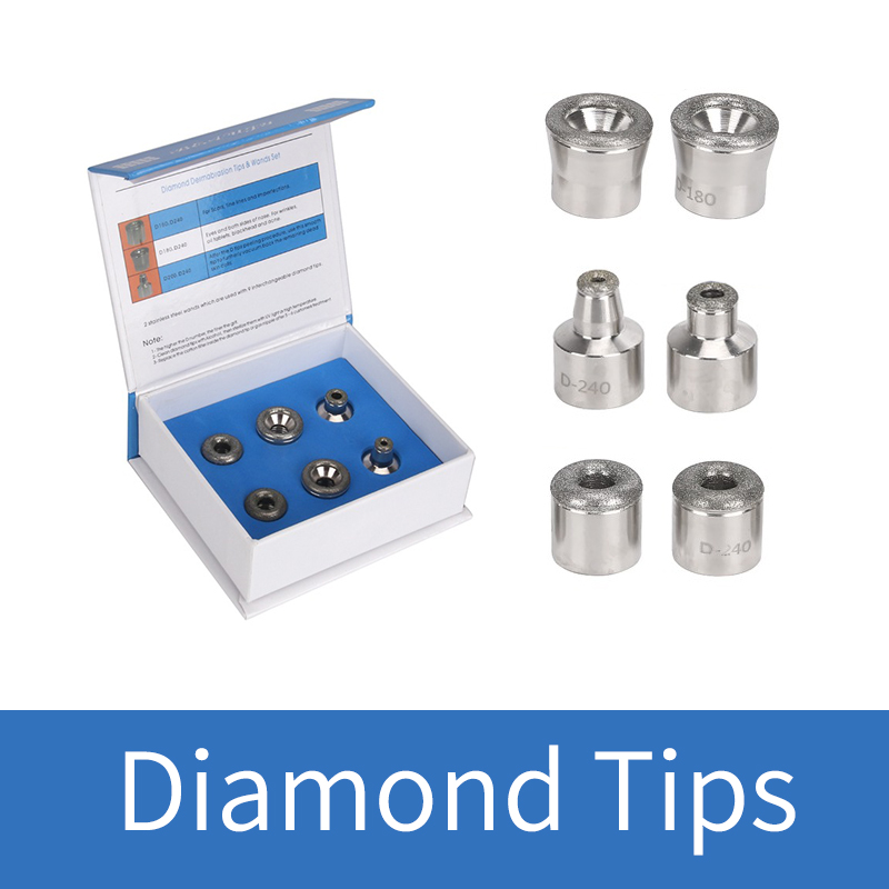 6 Diamond Tips Skin Dermabrasion Tool Microdermabrasion Facial Care Replaceable Accessory Tips Peeling Tool Skin Exfoliation