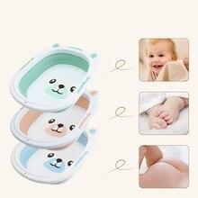 Folding Baby Washbasin Portable Collapsible Silicone Travel Bathtub Newborn Baby Tubs Children Wash Water Holder BathTub