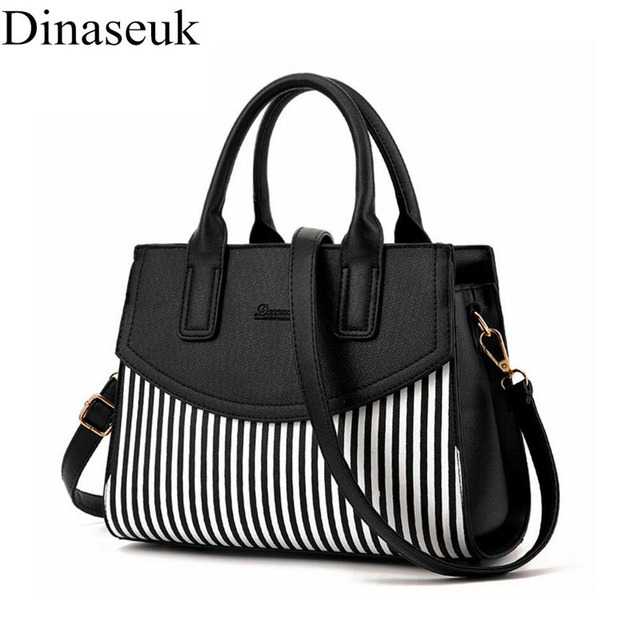 Dinaseuk Women S Striped Pu Top Handle Purse Shoulder Bag Lady Sling Pack Crossbody College Purses And