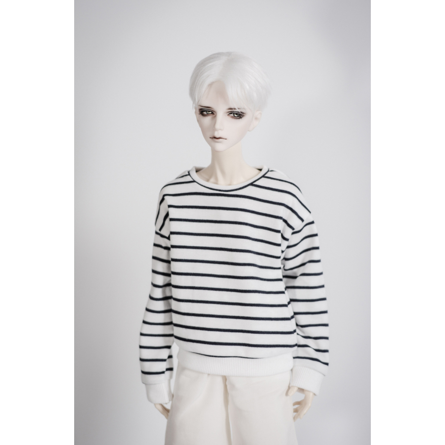 BJD Strips T Shirt  Outfits Top Clothing For Male 1/4 1/3 SD17 70cm 17