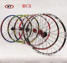 RT RC3 VTT montagne vélo 26 pouces ultra léger roues 5 peilin scellée portant disque roue roues 27.5 pouces Jante
