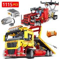 Создатель TechniK набор LegoINGLYS машины серии технические с приводом от двигателя трансформация грузовик автомобиль блоки игрушки для детей