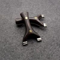 Katapult voor Jacht Titanium Legering Vijf Ster Hoge Kwaliteit Catapult met platte rubber band Outdoor Schieten Sport