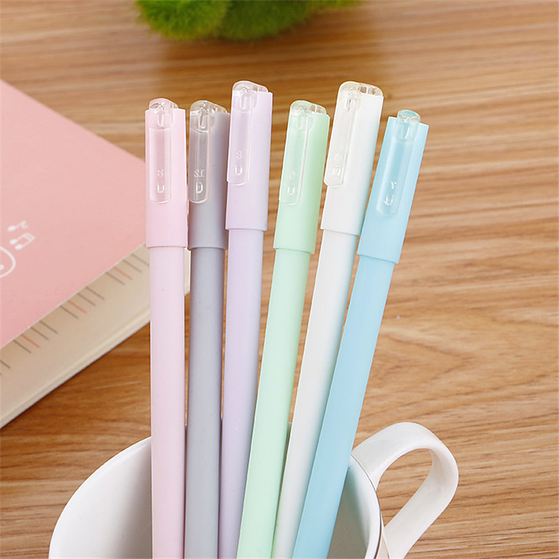 цена на 1pcs Cute Kawaii Jelly  Plastic Gel Pen Creative Space Black Ink Pens Office School Supplies Korean Stationery Free Shipping