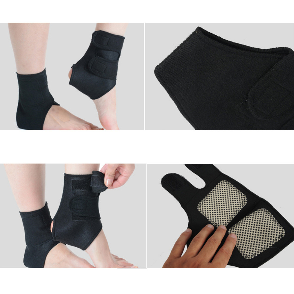 Self-heating Tourmaline 1 Pair Far Infrared Magnetic Therapy Ankle Care Belt Support Heel Brace Massager Foot Health Care