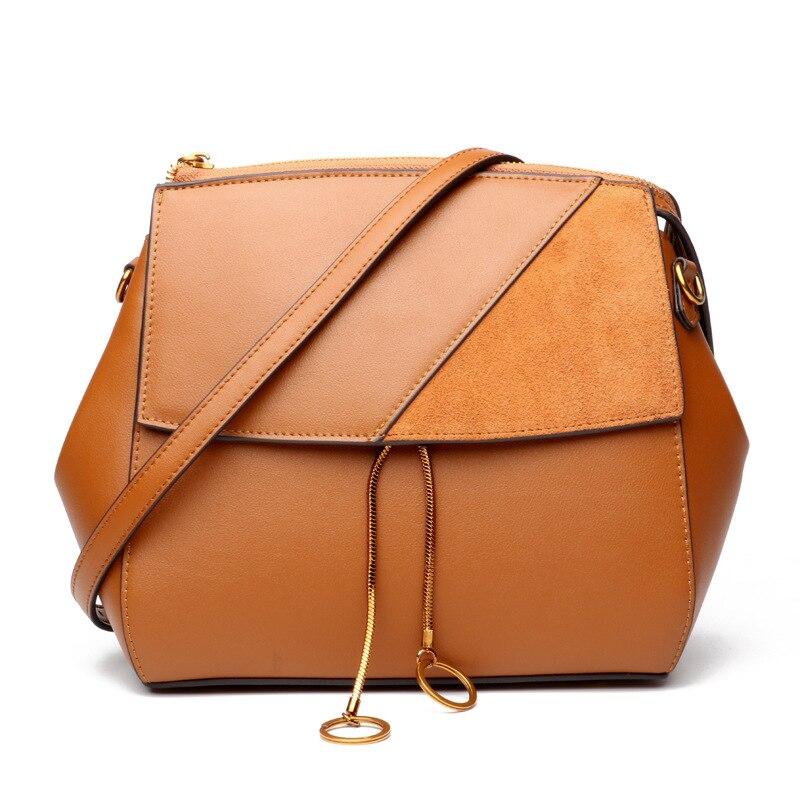 2018 Women's Autumn And Winter New Leather Handbag Retro Messenger Bag Luxury Handbags Women Bags Designer 2018 autumn and winter luxury women s