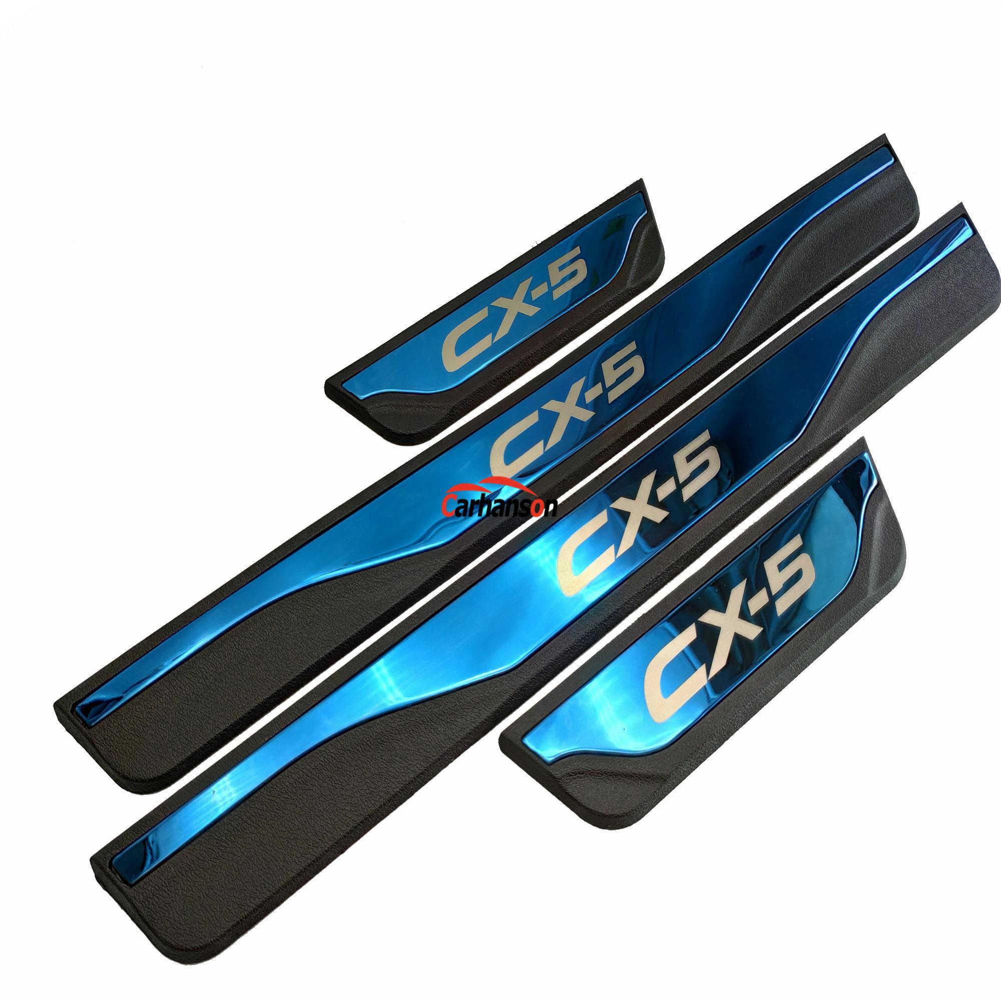 ملصقا ل السيارات مازدا CX-5 CX 5 CX5 الباب عتبة قطاع الاكسسوارات دواسة سيارة حماة غطاء الكسوة 2013 2015 2017 2018 2019 2020