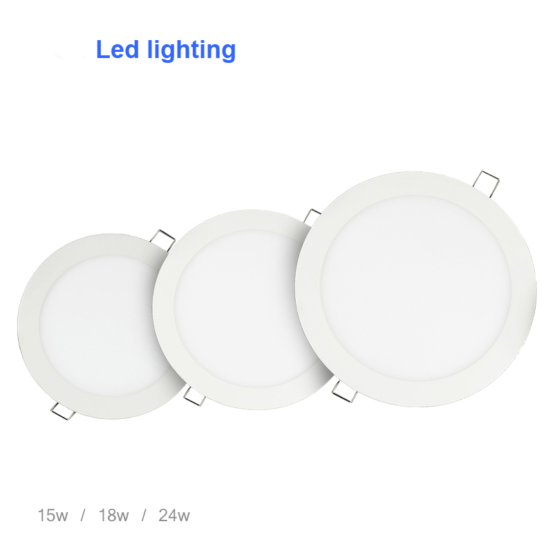 6w 12w 18w 24w Led Recessed Ceiling Flat Panel Down Light: Round LED Panel Light 6W 9W 12W 15W 18W 24W Led Ceiling