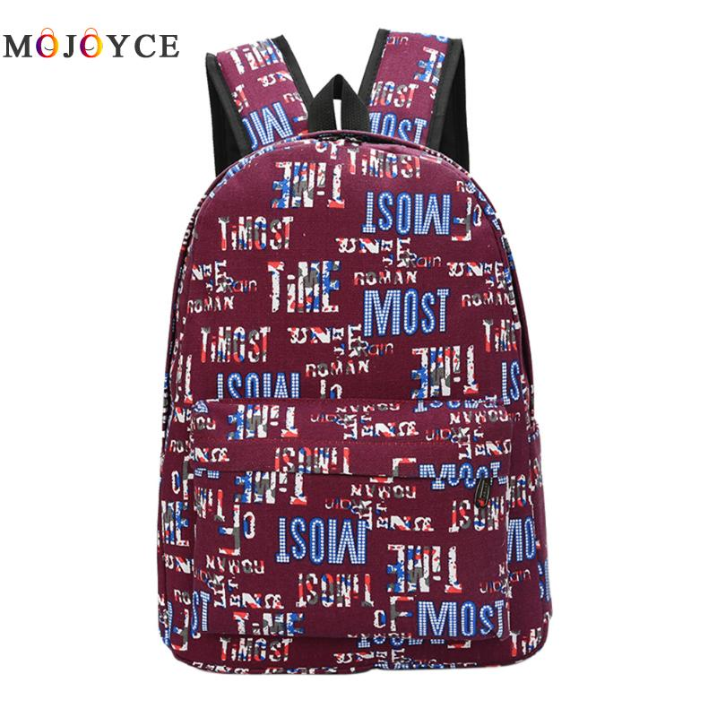 Graffiti Canvas Backpack Students School Bag For Teenage Girls Boys Backpacks Bags Cartoon Printing Rucksack Street Escolar