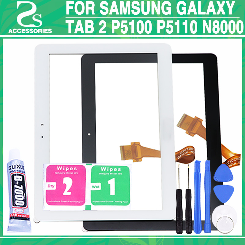 New P5110 P5100 Touch Screen For Samsung Galaxy Tab 2 P5100 P5110 N8000 N8010 Touchscreen Digitizer Repair Panel + Tools стоимость