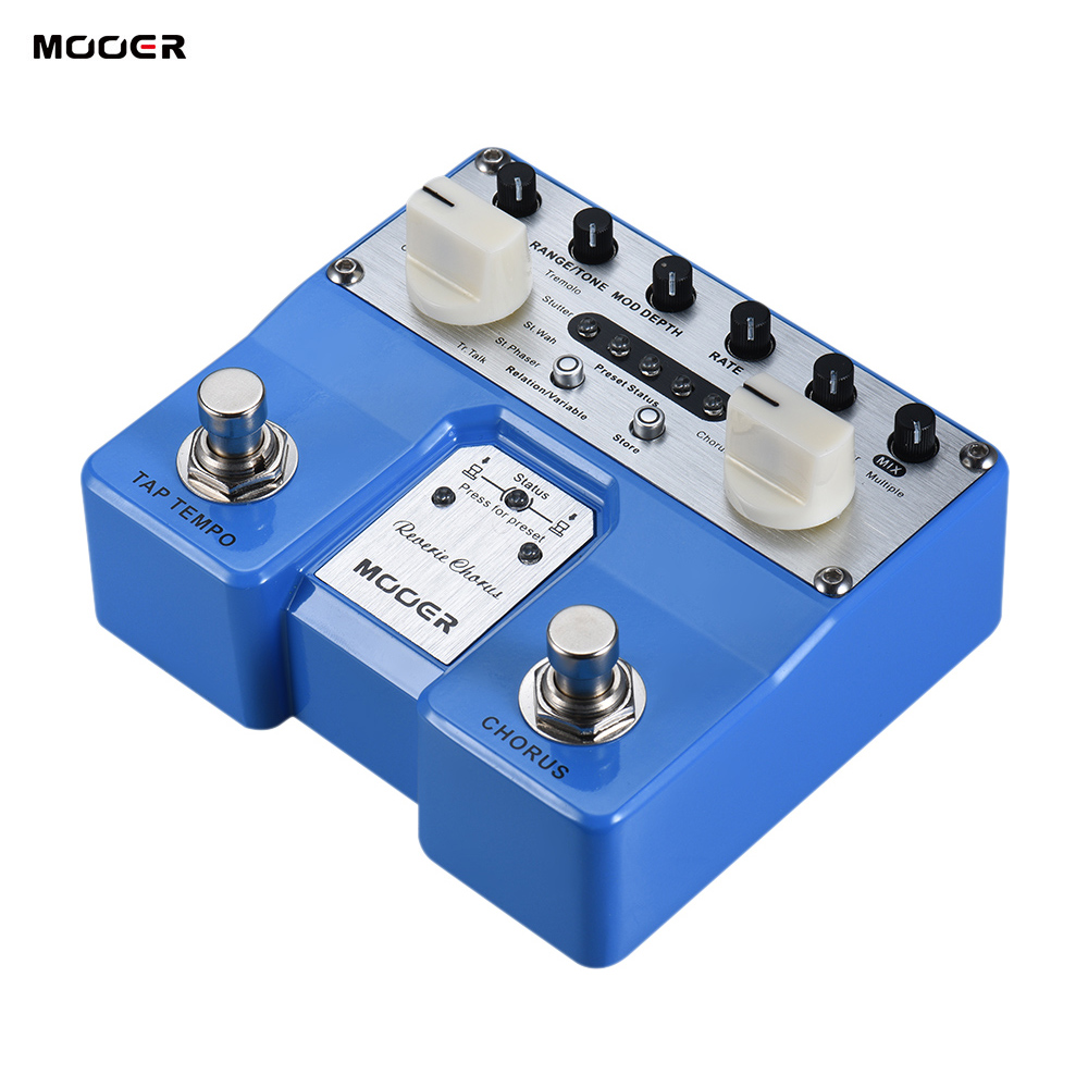 MOOER Reverie Chorus Guitar Effect Pedal 5 Chorus Modes 8 Enhancing Effects Tap Tempo Function with