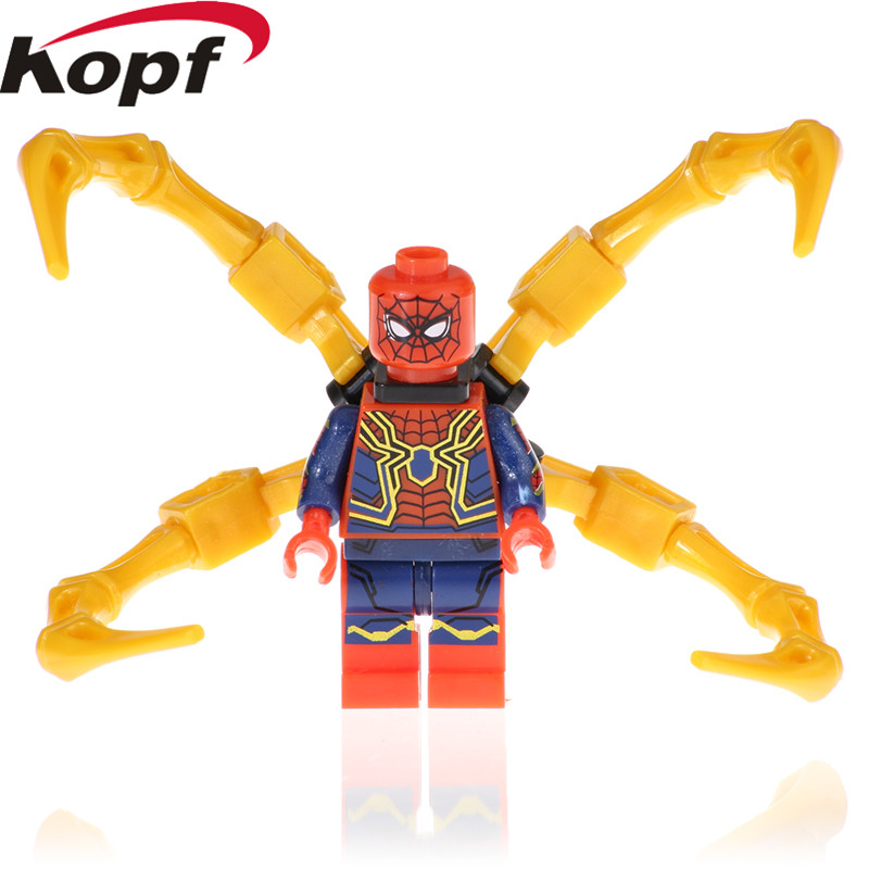 Building Blocks Super Heroes Avengers 3 Infinity War Spiderman Ant man Thanos Action Figures Collection Toys for Children EG109 image