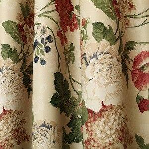 Image 2 - Cortinas para telas terminadas, liquidación especial, sala de estar, dormitorio de lujo, jardín de estilo europeo
