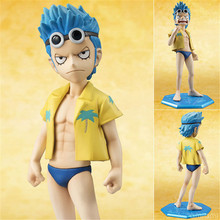 2016 New 1SET 12cm Funny Japanese Anime One Piece Child Franky Anime Figures Cute Figures Toy Collection Models Kids Toy