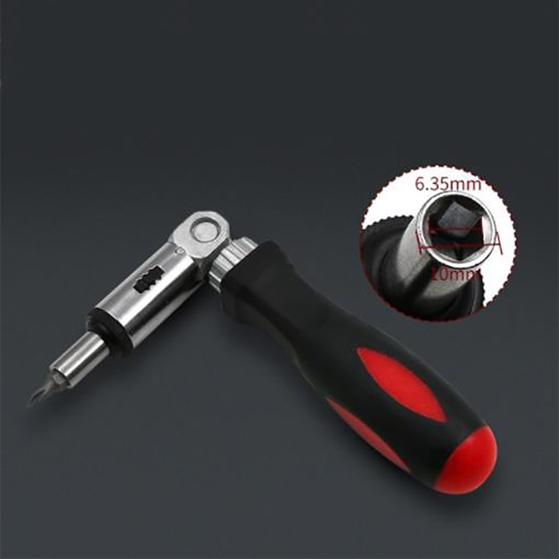 Multi-function Ratchet Screwdriver Angle Variable 0-180 Degrees Can Be Turned Left And Right 1/4 Inch Hex Interface