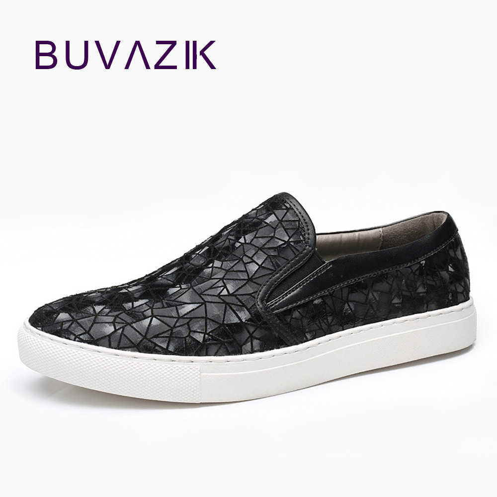 BUVAZIK mens fashion loafers genuine leather breathable slip-on casual shoes men low tops comfortable leather shoes зарядное устройство и аккумулятор gp powerbank pb420gs130 1300mah aa 4шт