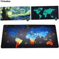 World Map Print Anti Slip Fashion Popular Mouse Pad 900x400mm XL Viviration Soft Computer Laptop PC