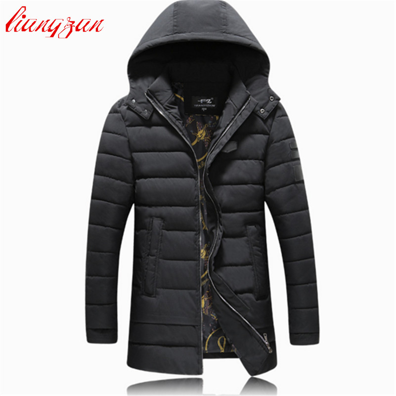 Men Hoodies Cotton Coats Brand Design Winter Warm Snow Thick Long Parkas Casual Slim Fit Windproof Trench Coats F2361 hooded detachable winter warm men coats brand design snow thick outdoor down parkas casual slim fit cotton trench coats f1210