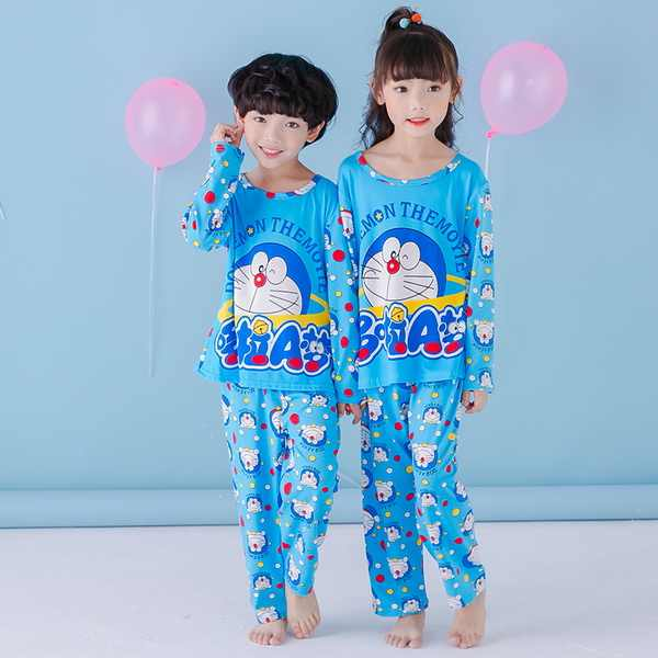 701ee1e861 Hot sale Girls pajamas Baby Boys spring autumn long-sleeved thin kids  Clothes Lovely cartoon Children s
