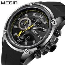 Nouveau hommes montre bracelet Sport Silicone mâle Date Quartz chronographe horloge hommes de luxe marque étanche relogio masculino