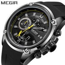 Nuevo reloj de pulsera para hombre, reloj deportivo de silicona con cronógrafo de cuarzo con fecha para hombre, reloj de marca de lujo resistente al agua