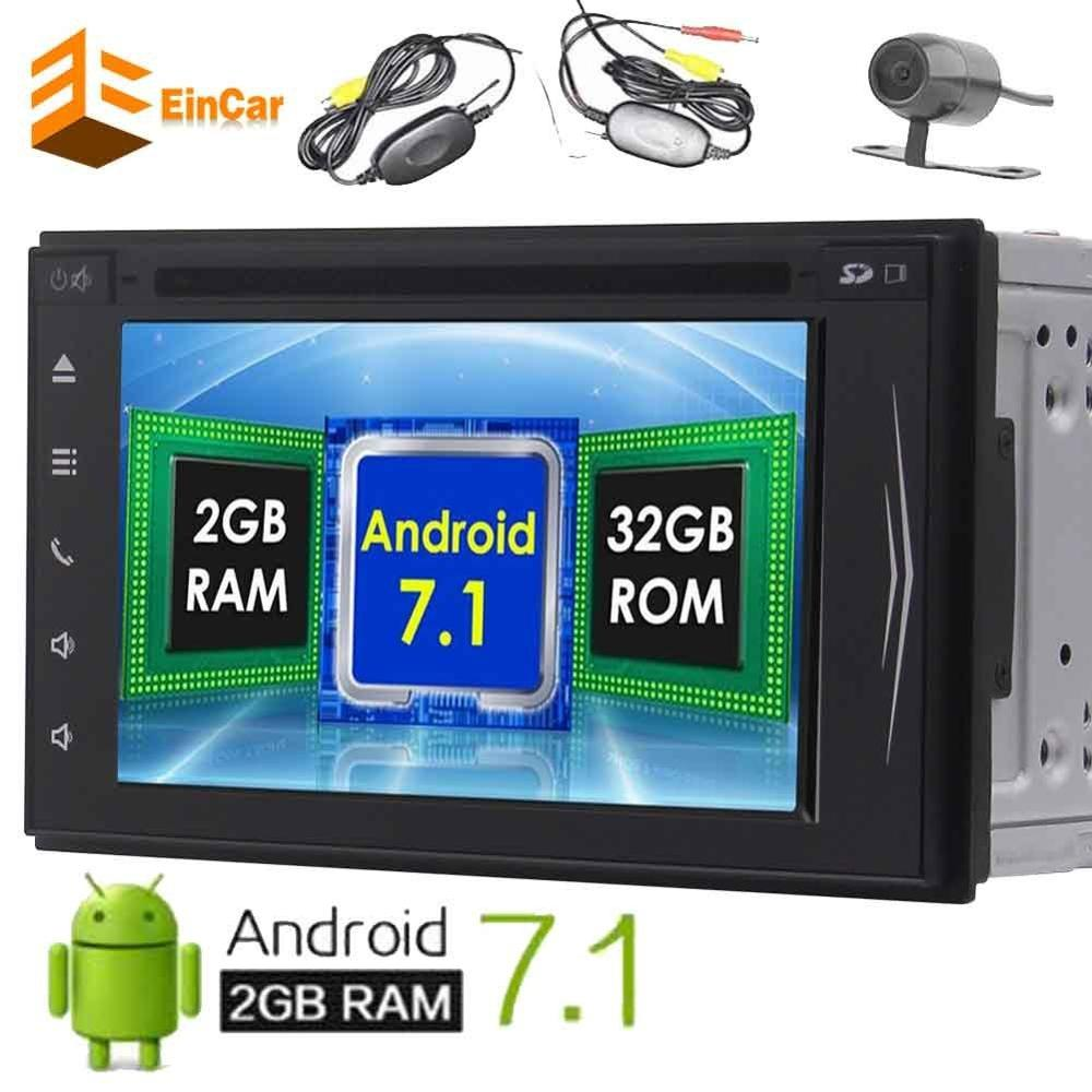 font b Wireless b font Camera Android 7 1 Octa core 2Din GPS Car Stereo