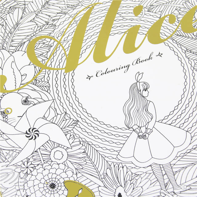 Alice In Wonderland Colouring Book Secret Garden Style Coloring Book  Relieve Stress Kill Time Graffiti Painting Drawing Book