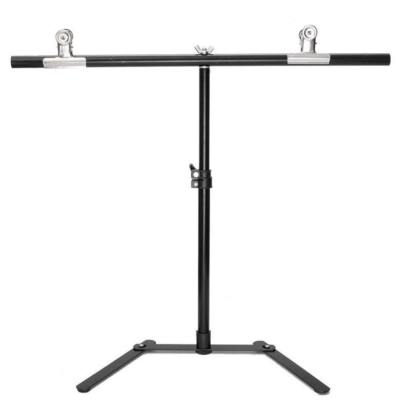 Adjustable Photography Support Stand + White PVC Backdrop Background + 2 Clips Set High-strength aluminum detachable lightdow 2x3m 6 6ftx9 8ft adjustable backdrop stand crossbar kit set photography background support system for muslins backdrops