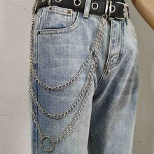 Pants Chain Trendy Wallet Chains Unisex Silver Metal Punk Keychain Rock Jewelry 3 Style