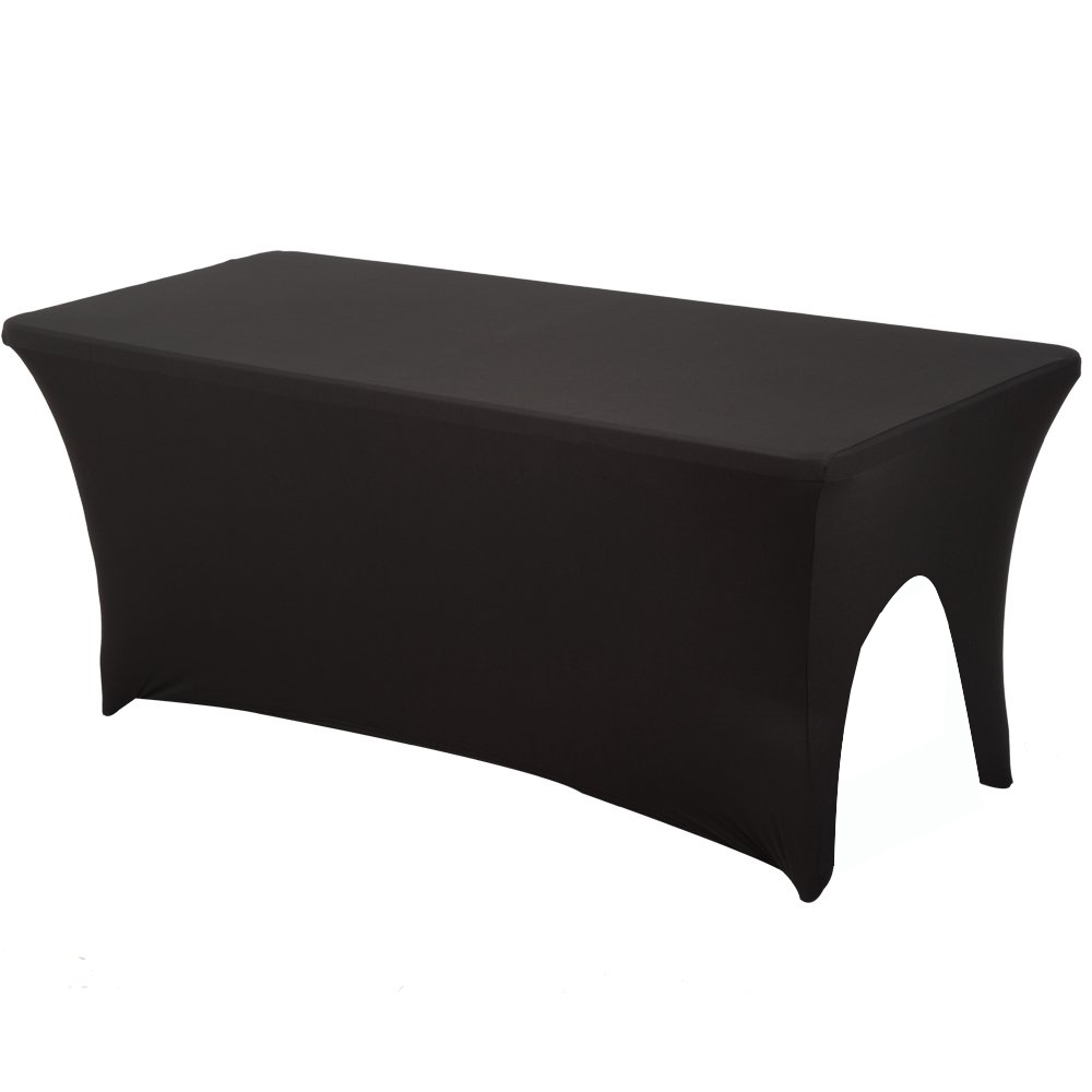 6ft Black White Side Face Arched Stretch Table Cloth Salon SPA Tablecloth Massage Treatment Bed Spandex