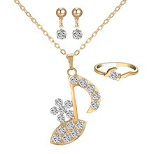 Fashion High heels Dubai Austria crystal 18 K Necklaces Earrings Wedding Bridal Jewelry Sets luxury Jewellery Women