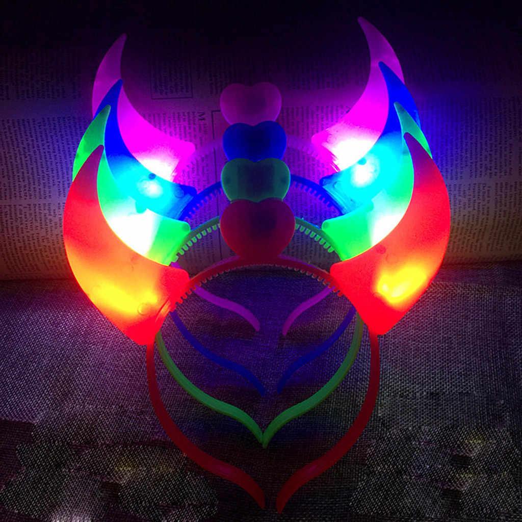 El LED Club fiesta luz para concierto brillante diadema Flexible accesorios para El cabello scrunchie gumki do wosow diadema