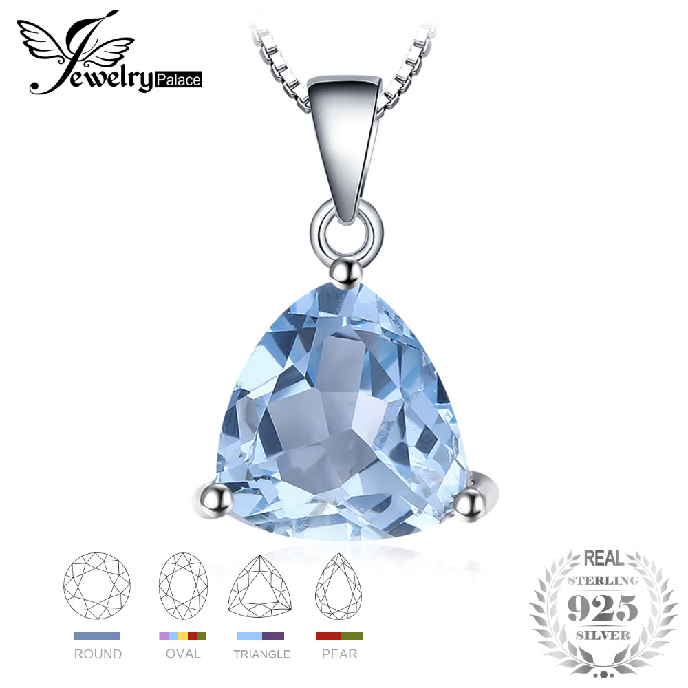 JewelryPalace Natural Amethyst Citrine Garnet Peridot Sky Blue Topaz 925 Sterling Silver Pendant Necklace Not Include A ChainJewelryPalace Natural Amethyst Citrine Garnet Peridot Sky Blue Topaz 925 Sterling Silver Pendant Necklace Not Include A Chain