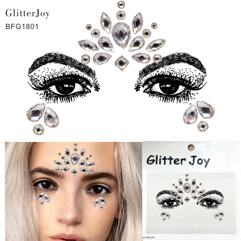 Enthusiastic Bfg1801 1pc Latest Festival Resin Face Gem Best Choice For Body Art Decor At Pool Party All-in-one In Stock Body