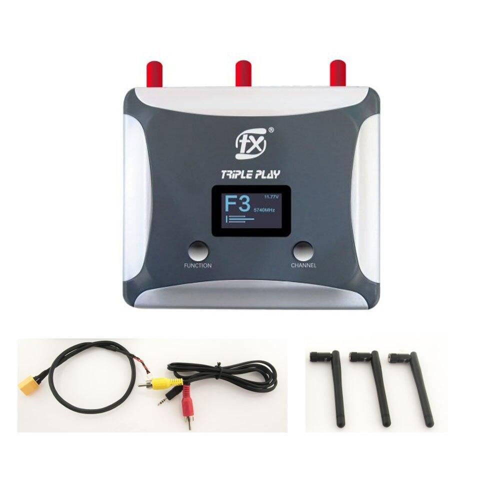 FXT FX888R FPV RX odbiornik 5.8G 6 pasm 48CH pasmem przenoszenia Triversity odbiornik wbudowany w 128*64 OLED pokrywa kanałów dla RC Drone w Części i akcesoria od Zabawki i hobby na  Grupa 1
