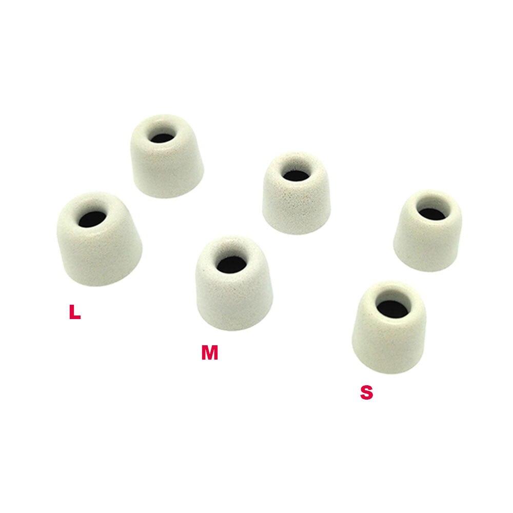 ANJIRUI 6 pcs/3 pair,ANJIRUI T500 (L M S) 4.9mm Caliber Ear Pads/cap memory ear foam eartips for in ear Headphones tips Sponge