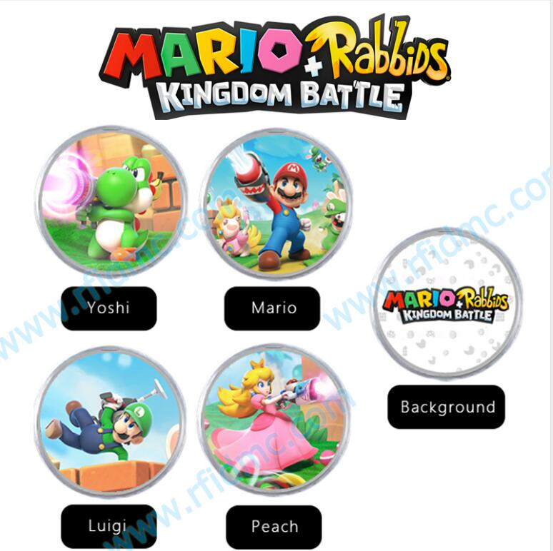 NFC Amiibo Coin Tag Switch For Mario + Rabbids Kingdom Battle
