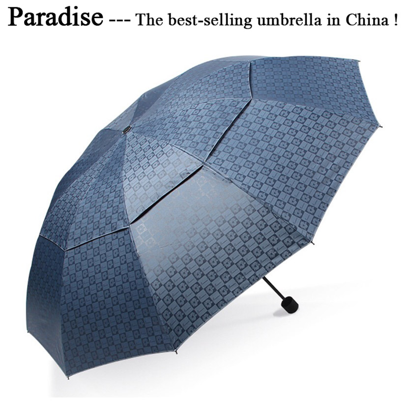 Quality <font><b>Umbrella</b></font> Men Rain Woman <font><b>Windproof</b></font> Double Canopy Large Paraguas Male Sun Floding Big <font><b>Golf</b></font> <font><b>Umbrellas</b></font> Outdoor Parapluie image