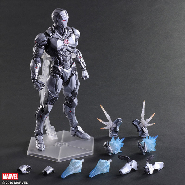 XINDUPLAN Marvel Shield Play Arts Kai iron Man Gray Limited Edition Avengers Civil War Action Figure 26cm Collection Model 0789 victorian america and the civil war